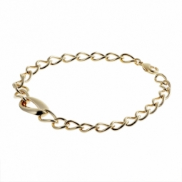 Bracelet en plaqué or, maille gourmette fantaisie