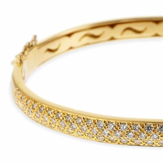 achat bracelet jonc en or jaune diamants longueur pm femme le man ge bijoux. Black Bedroom Furniture Sets. Home Design Ideas