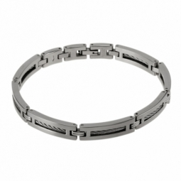 Bracelet en acier et cables