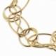 Bracelet en plaqué or, cercles et spirales - B