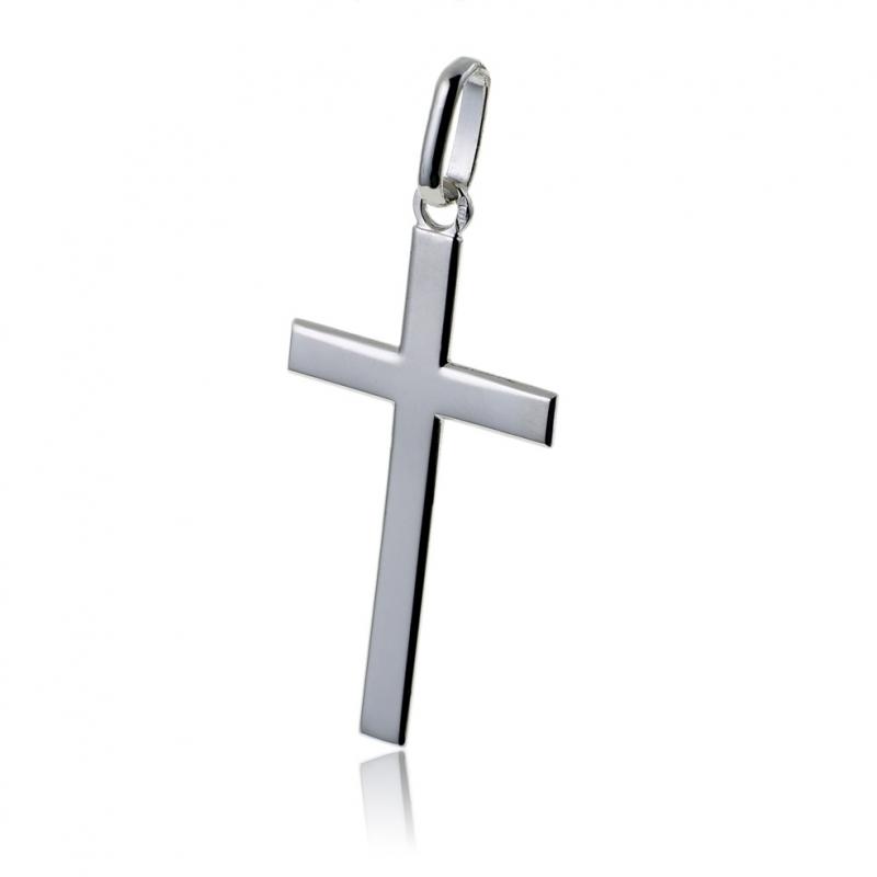 collier argent homme croix