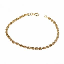 Bracelet en plaqué or, maille corde