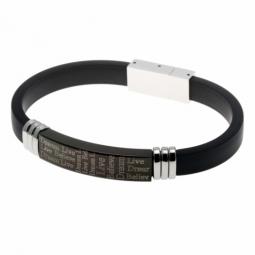 Bracelet en acier et caoutchouc