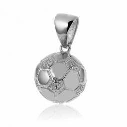 Pendentif ballon de foot en argent rhodié
