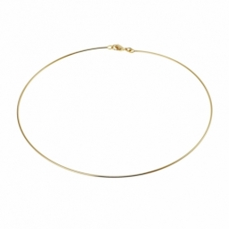 Collier câble en plaqué or