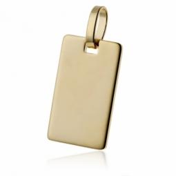 Pendentif  plaque (petit modèle) en plaqué or