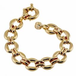 Bracelet en plaqué or, maille ronde