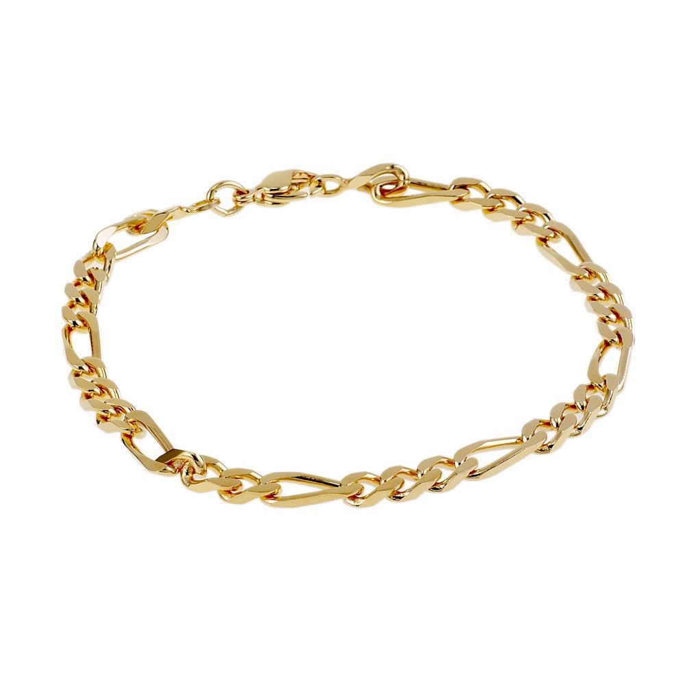Bracelet en plaque or pour homme