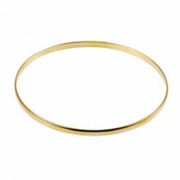 Bracelet en plaqué or, demi jonc rigide, largeur 3 mm