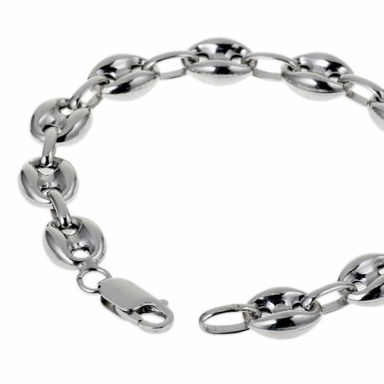 Achat bracelet mixte argent 14 8 g le man ge bijoux - Gourmette graine de cafe argent ...