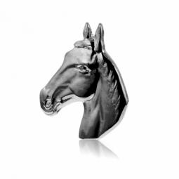 Pendentit tête de cheval en argent rhodié