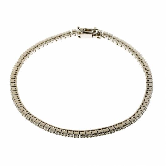 achat bracelet femme or gris 9 5 g diamant ct le man ge bijoux. Black Bedroom Furniture Sets. Home Design Ideas