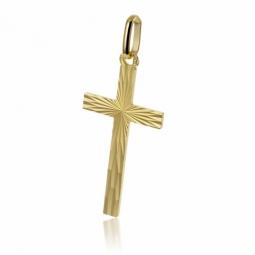 Croix diamantée en plaqué or