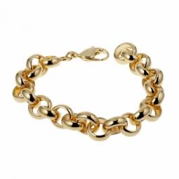 Bracelet en plaqué or, maille jaseron