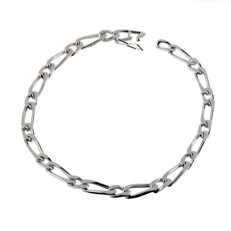 Achat Bracelet en argent rhodié maille cheval alternée 1-1 ... faf46640870b