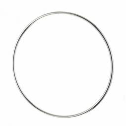 Bracelet jonc en argent rhodié fil rond 1,8 mm