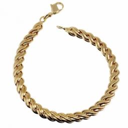 Bracelet en plaqué or, maille fantaisie