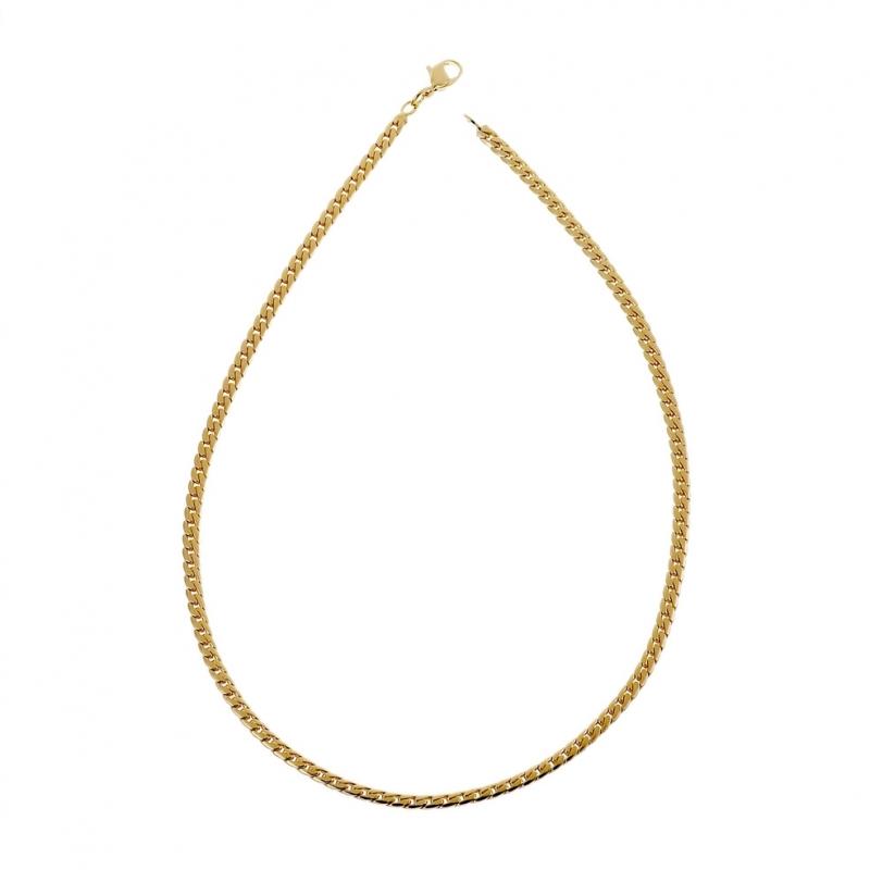 collier femme plaque or