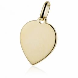 Pendentif coeur en plaqué or
