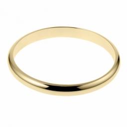 Bracelet en plaqué or, demi jonc rigide, largeur 8 mm