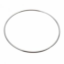 Bracelet jonc en argent rhodié fil rond 2,5 mm