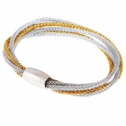 Bracelet en acier et fils polyester