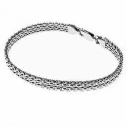 Bracelet en argent rhodié