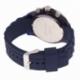 Chronographe homme, boîte en plastique, bracelet silicone et verre minéral - C