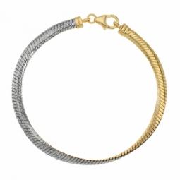 Bracelet en or jaune et rhodié, réversible