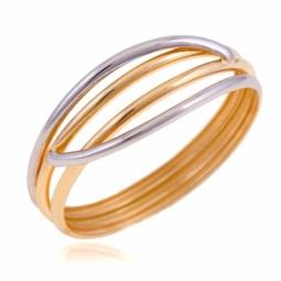 Bague en or jaune et rhodié, multi fils