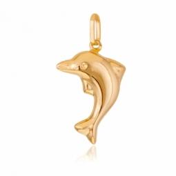 Pendentif en or jaune, dauphin