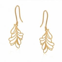 Boucles d'oreilles plaqué or, ajourées