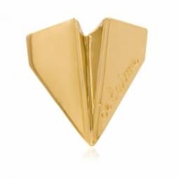 Pendentif en or jaune, avion en papier