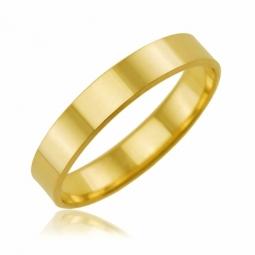 Alliance en or jaune, ruban 4 mm