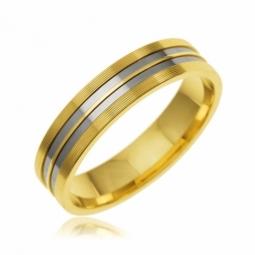 Alliance en or jaune et titane 5 mm