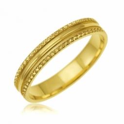 Alliance en or jaune, mate et lisse 3.5 mm