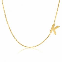 Collier en or jaune, lettre K