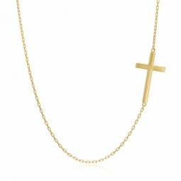 Collier en or jaune, croix