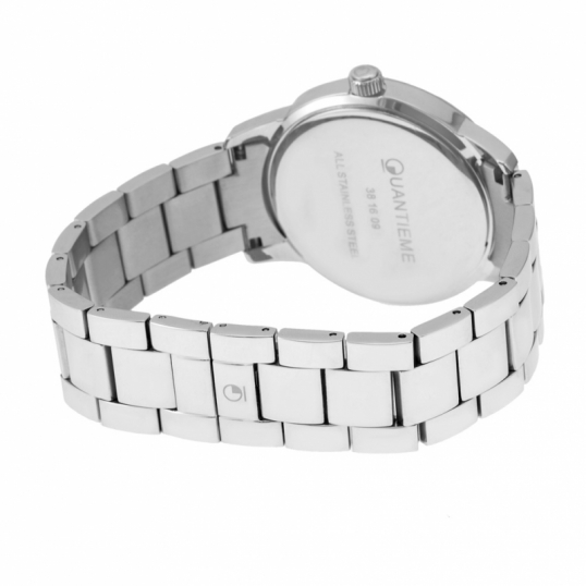 Montre homme, boîte et bracelet acier et verre minéral