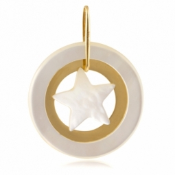Pendentif en or jaune et nacre, motif étoile