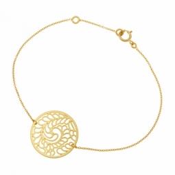 Bracelet en or jaune, motif ajouré