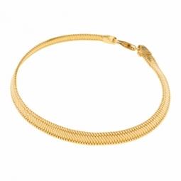 Bracelet en or jaune, maille plate