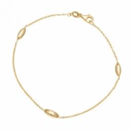 Bracelet en or jaune et boules olives