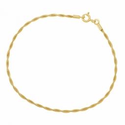 Bracelet en or jaune, torsadé