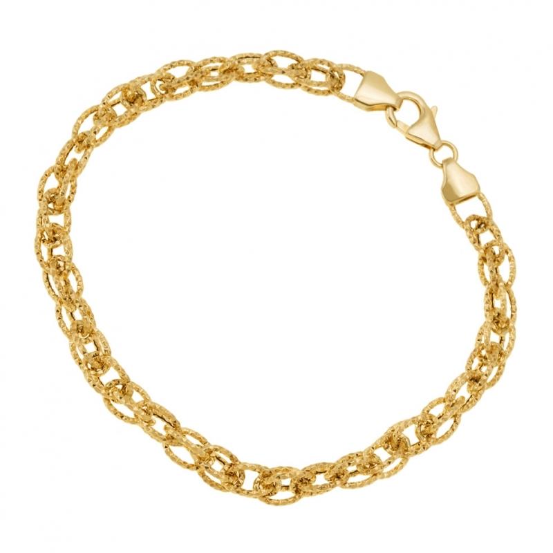 achat bracelet femme or jaune 4 4 g le man ge bijoux. Black Bedroom Furniture Sets. Home Design Ideas