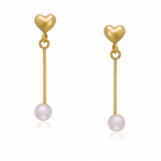achat boucles d 39 oreilles femme or jaune g perle de culture eau douce 0 5 ct le man ge. Black Bedroom Furniture Sets. Home Design Ideas