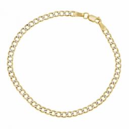 Bracelet en or jaune et rhodié