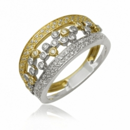 Bague 2 ors, diamants