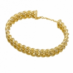 Bracelet demi jonc en or jaune