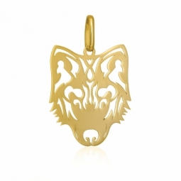 Pendentif en or jaune, loup